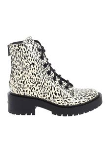 Kenzo - Pike Lace Up ankle boots in ecru color
