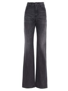 Palm Angels - Faded flared jeans in grey