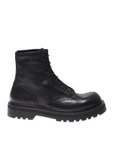 Premiata - Leather combat boots in black