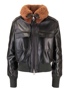 Chloé - Aviator jacket in green