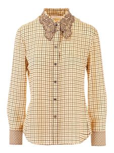 Chloé - Checked shirt in beige