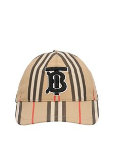 Burberry - TB striped baseball cap in beige