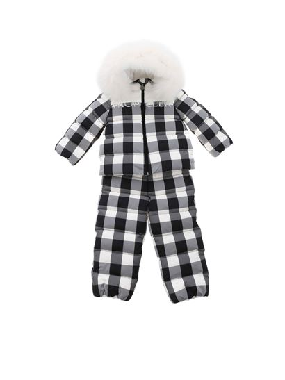 Moncler Enfant - Poppy checked tracksuit in black and white