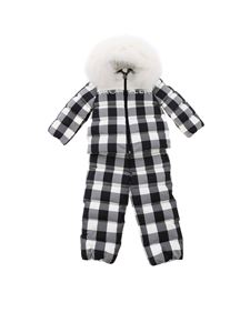 Moncler Jr - Poppy checked tracksuit in black and white