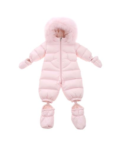 Moncler Enfant - Pansy snow suit in pink