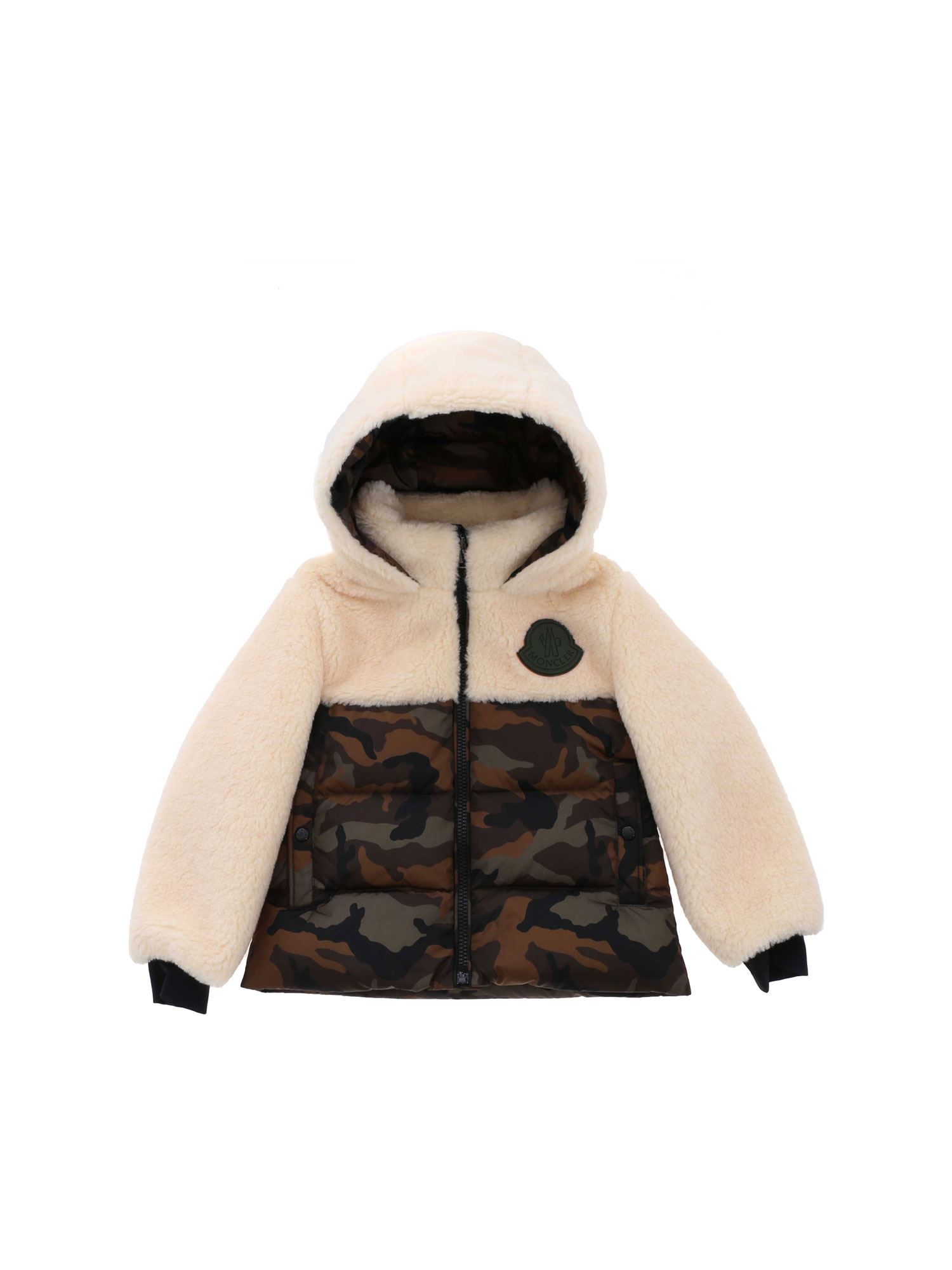Moncler Jr Downs FALCON CAMOUFLAGE HOODED DOWN JACKET