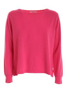 Kangra Cashmere - Boat neck pullover in fuchsia