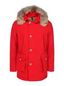 Woolrich - Arctic parka padded coat in red