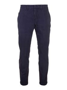 Fay - Logo pants in blue