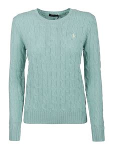 POLO Ralph Lauren - Logo embroidery sweater in light green