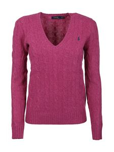POLO Ralph Lauren - Logo embroidery sweater in pink