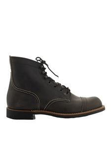 Red Wing shoes - Iron Ranger ankle boots in grey