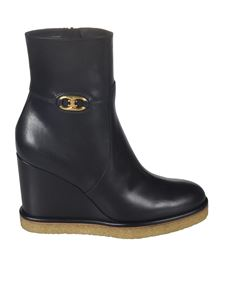 Celine - Wedge ankle boots in black