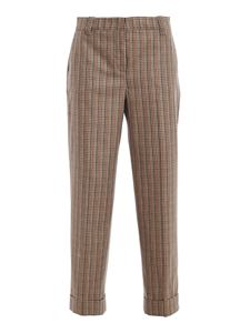 PT Torino - Ambra vichy trousers in camel color