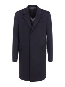Paul Smith - Wool and cashmere coat in blue