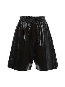 Bottega Veneta - Shorts in pelle nera