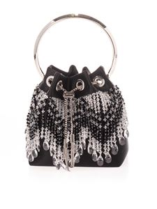 Jimmy Choo - Bon Bon crystal tote bag in black