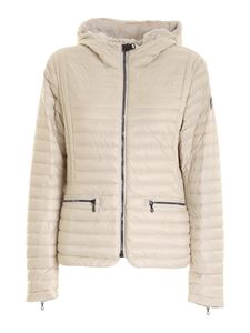 Colmar Originals - Hooded down jacket in ivory color