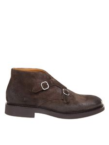Doucal's - Monk strap desert boots in dark brown color