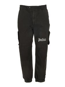Palm Angels - Cargo logo pants in black