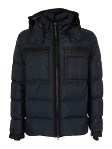 Fay - Down jacket in blue with pockets