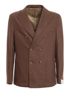 Eleventy - Wool-cashmere blend suit in camel color