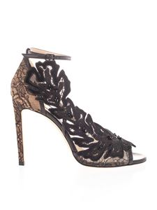 Jimmy Choo - Lace sandals in black