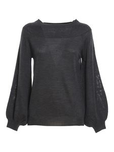 Parosh - Wool cashmere blend jumper in grey