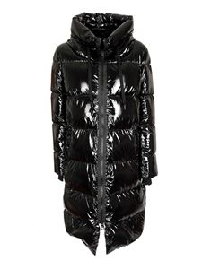 Herno - Long shiny down jacket in black