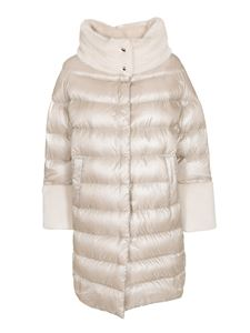 Herno - Faux fur trim down jacket in Chantilly