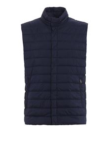 Herno - Breathable quilted padded vest in blue
