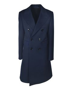 Celine - Double-breasted coat in blue