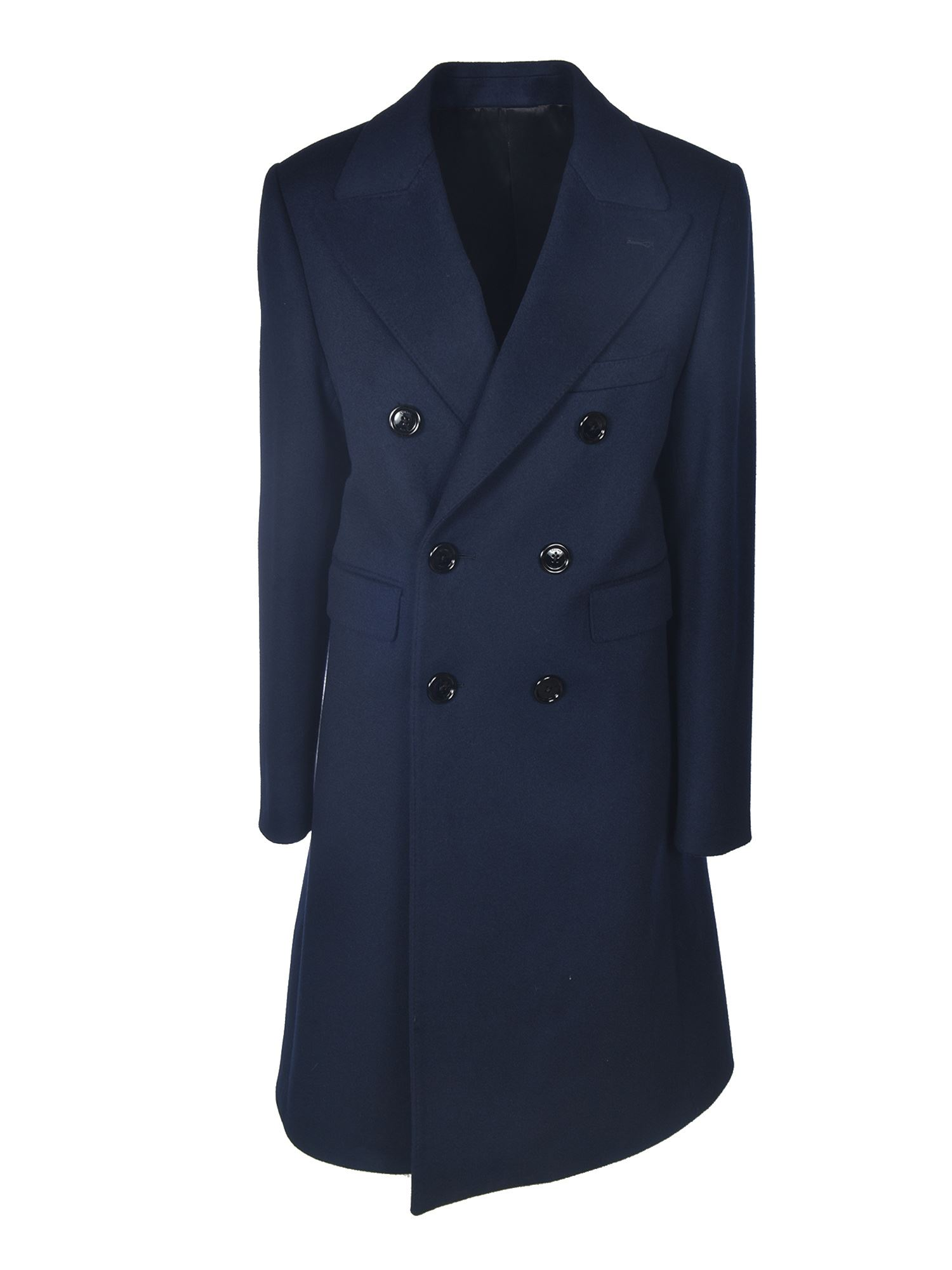 Celine DOUBLE-BREASTED COAT IN BLUE