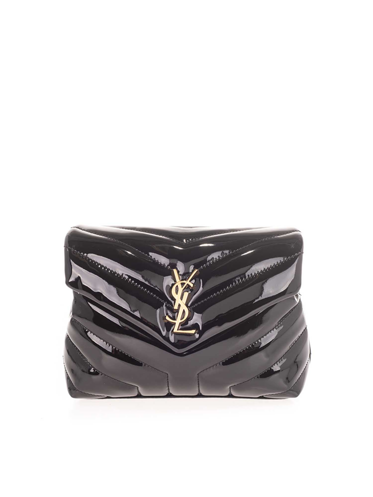 Saint Laurent LOULOU TOY PAINTED BAG IN BLACK