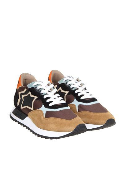 nylon and suede in brown - DRACO JMNN CR01