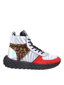 Giuseppe Zanotti - Urchin sneakers with zebra print multicolor