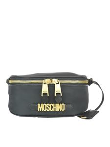 Moschino - Logo lettering belt bag in black