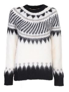 Roberto Collina - Wool and alpaca pullover in white