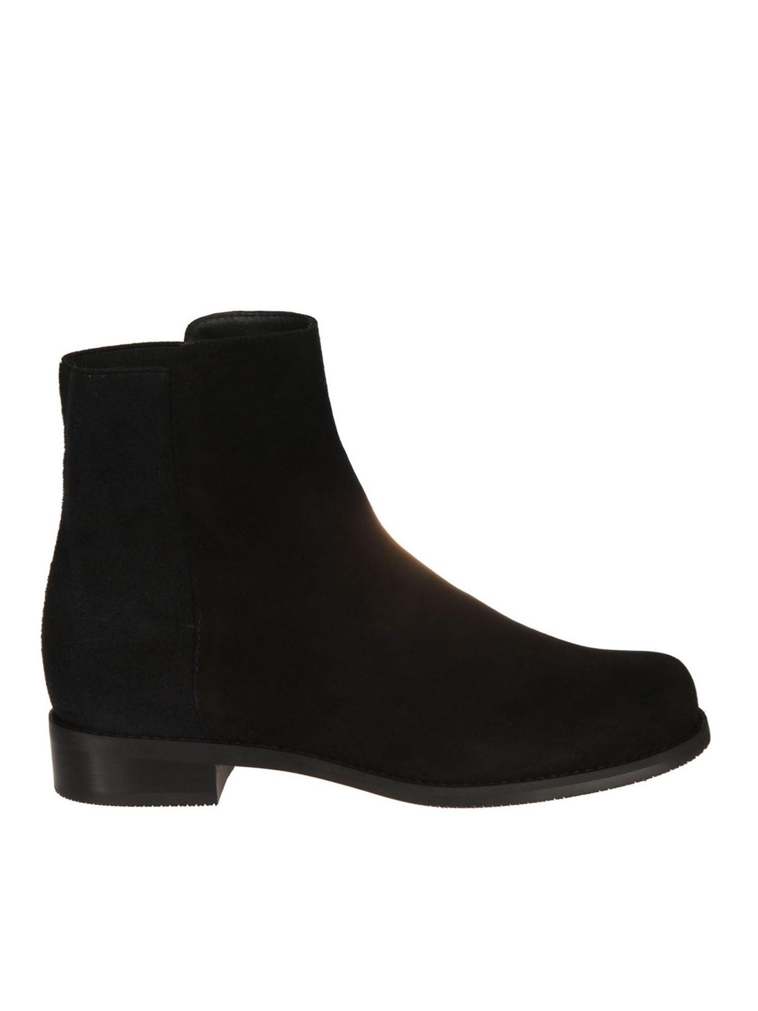 Stuart Weitzman EASY ON BLACK SUEDE BOOTIES