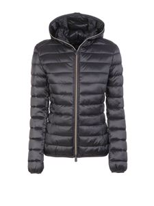 Save the duck - Hooded puffer jacket in grey