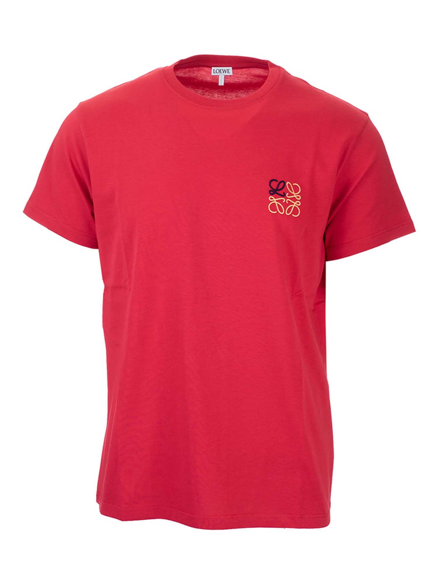 Loewe ANAGRAM LOGO T-SHIRT IN RED
