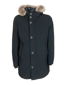 Herno - Padded parka in blue