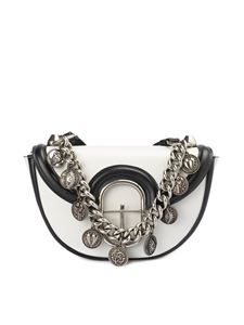 Roberto Cavalli - Onice leather cross body bag in white