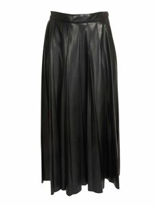 MSGM - Leather-effect long skirt in black