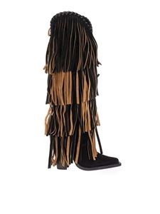 Dsquared2 - Western boots with full fringe in black