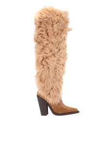 Dsquared2 - Western shearling boots in beige