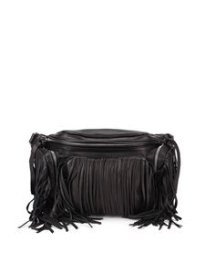 Dsquared2 - Fringed leather bum bag in black