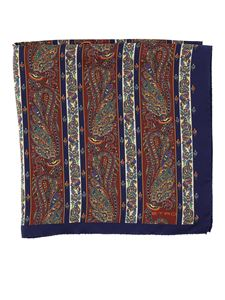 Etro - Paisley print scarf in blue