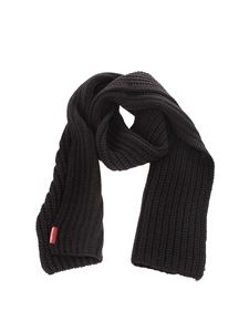 Dsquared2 - Ribbed scarf in black