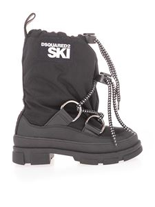 Dsquared2 - Ski boots with drawstring logo in black